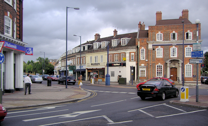 Edgwarebury Lane junction with Station Road, Edgware