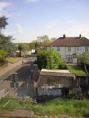 Manor Farm Road, Norbury, from the train