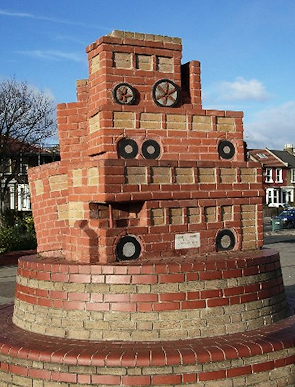 'Time Terminus', a sculpture-​​cum-​​seat at Leytonstone station bus terminus, Grove Green Road*