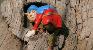 One of the little people on the Elfin Oak, possibly, in fact, an elf