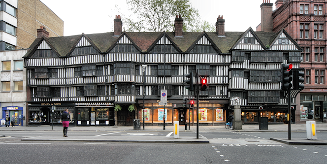Staple Inn on a dull afternoon