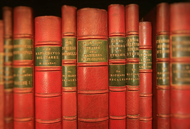 Royal Society of Chemistry leather-bound library books