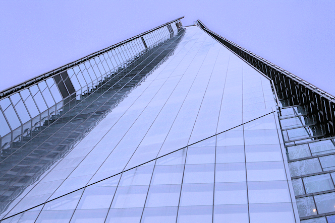 The Shard seen from below