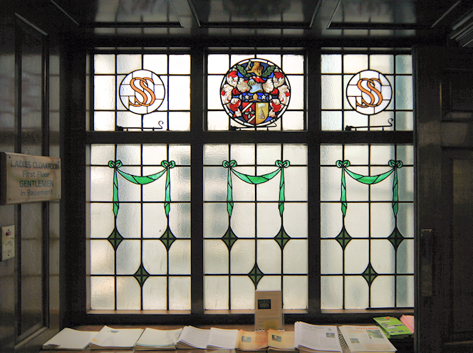 Swedenborg House window