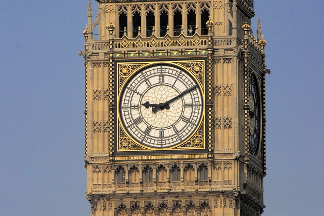 Big Ben - clockface closeup