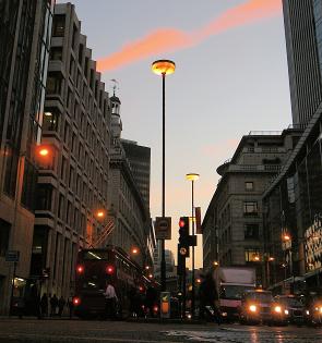 Bishopsgate at dusk