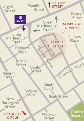 Carnaby map with Newburgh Quarter & Liberty