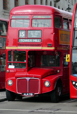 A Routemaster bus on the number 15 'heritage route'