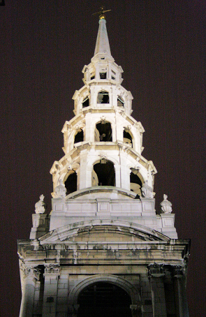 St Brides church steeple