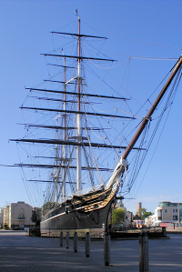 Cutty Sark before its restoration