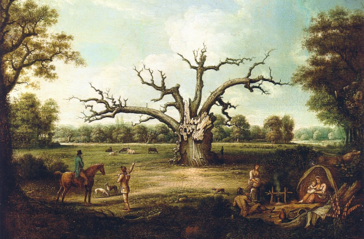 Fairlop Oak painting by Henry Milbourne