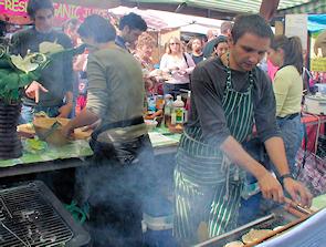 A Camden Market food stall