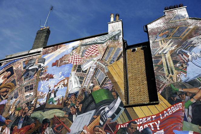 Graffiti de la batalla de Cable Street