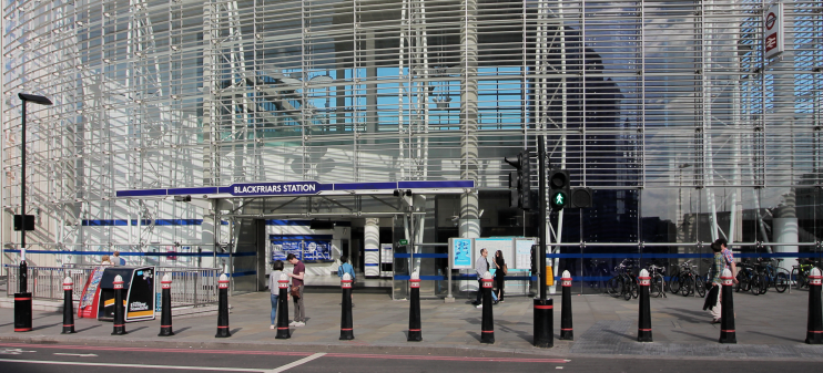Blackfriars station seen in June 2017