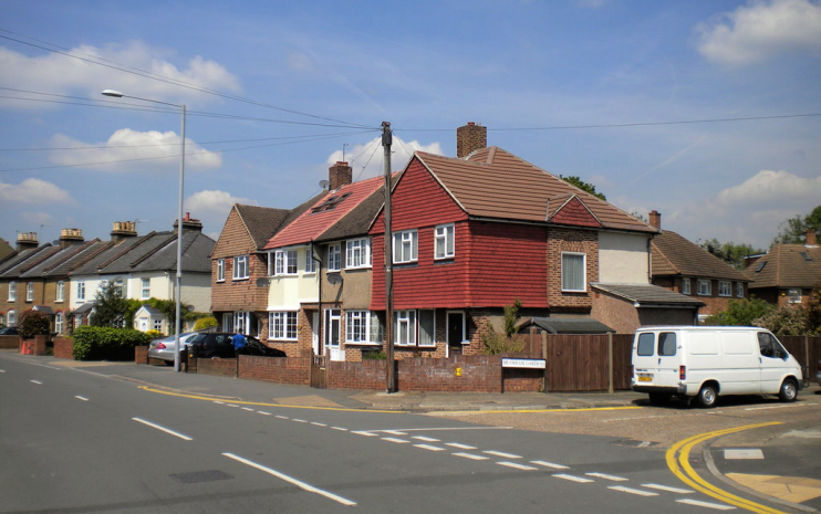 Hook - Houses on Clayton Road - geograph-4139842-by-Richard-Vince