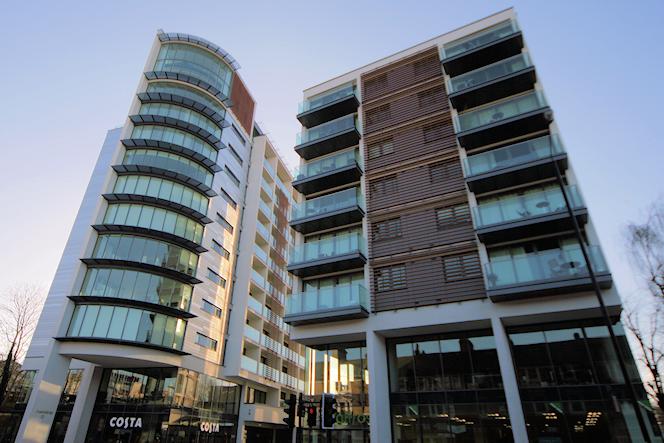 East Putney - Langham Square - angled upview