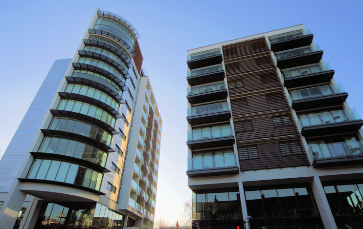 East Putney - Langham Square - angled upview