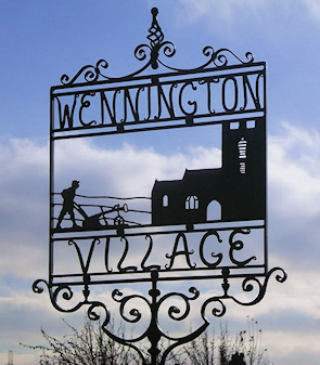 Wennington village sign
