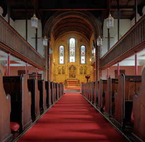 St Peter De Beauvoir Town, church interior