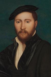 Portrait of a man + Sutton House entrance