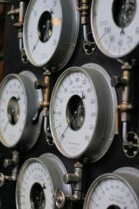 A banks of gauges