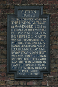 Sutton House plaque