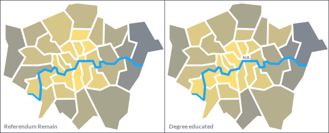 London boroughs referendum vs degree education