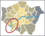 SW circled