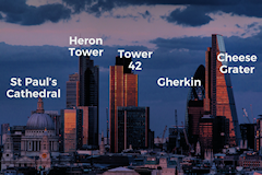 City of London skyline - labelled