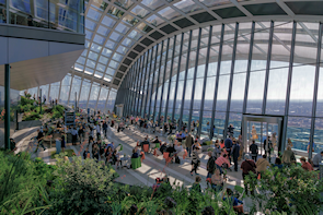 The Sky Garden atop the 'Walkie-Talkie'