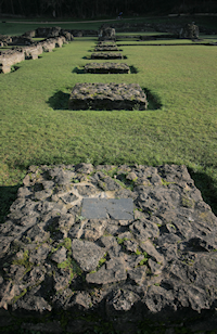 Lesnes Abbey footings