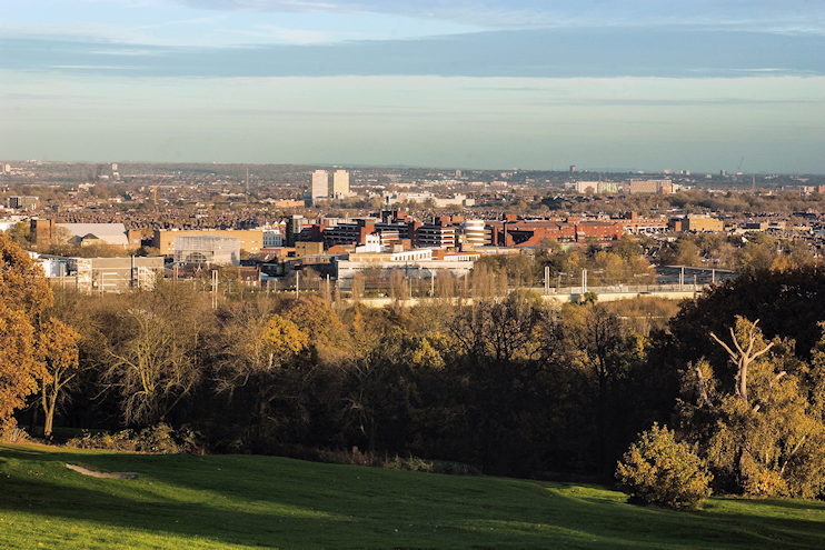 View of Wood Green from Alexandra Palace