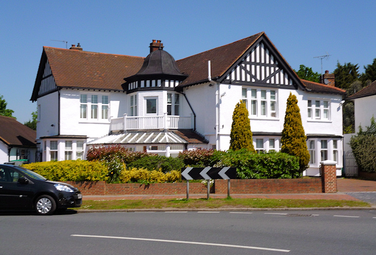 Corner of Hayes Way and Wickham Way - geograph-2960787-by-Dr-Neil-Clifton