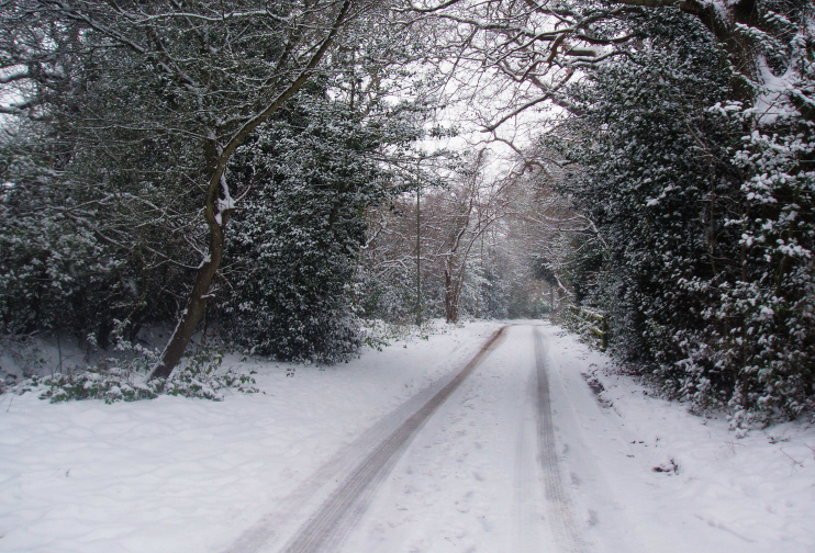 Arkley Lane in the snow by Bikeboy