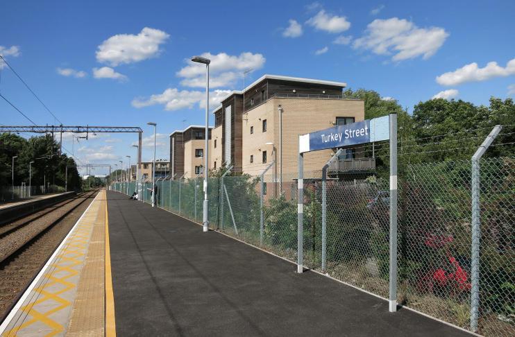 Turkey Street Station and Teal Close - geograph-4193179-by-Des-Blenkinsopp