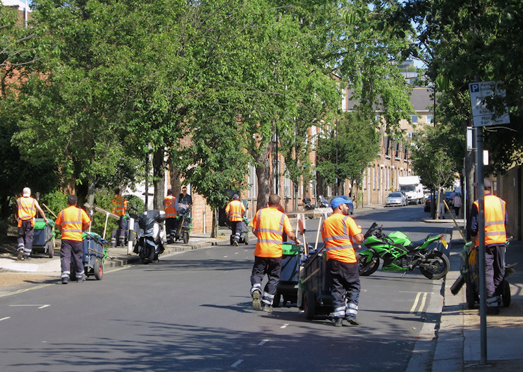 Street cleaners, Bagleys Lane by Oast House Archive