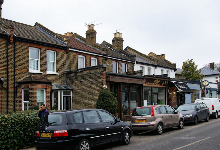 Denmark Terrace, Fortis Green, opposite the Clissold Arms