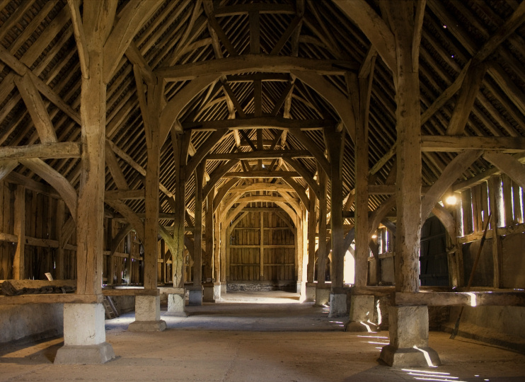 Harmondsworth Great Barn interior