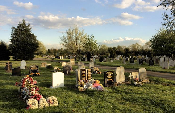 Hatton cemetery, copyright Hidden London