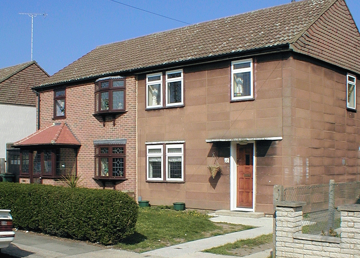Two homes in Havering Park: one brick-clad and one still in its original state