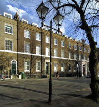 Highbury Place in early spring