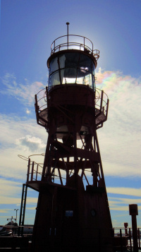 Hidden London: Leamouth - Lightship silhouetted against the sun
