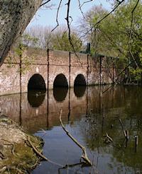 The Welsh Harp Bridge carries Cool Oak Lane across the Brent reservoir