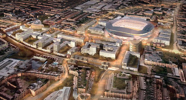 Hidden London: CGI of the High Road West masterplan