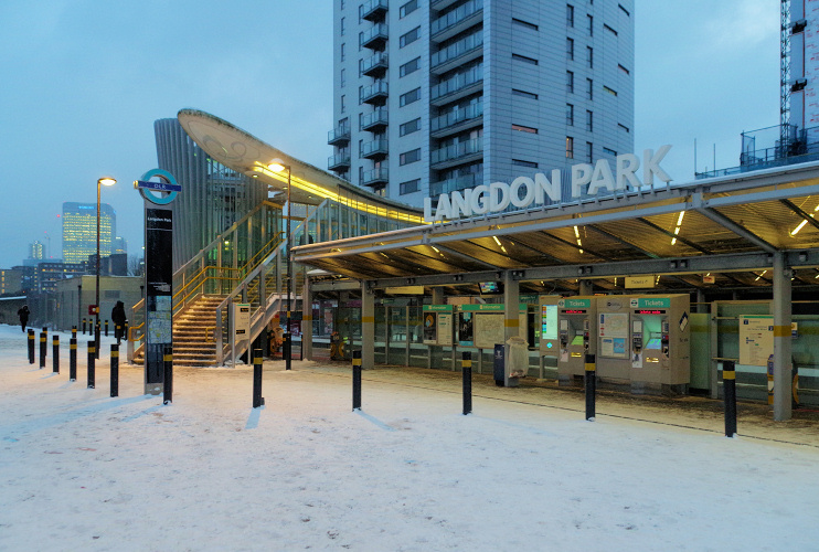Hidden London: Langdon Park station in the snow by Matt Buck