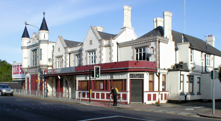 The former Turrets public house, on the border of Friern Barnet and New Southgate