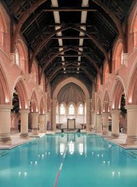 Hidden London Repton Park chapel, now a swimming pool, by Susan McKenna