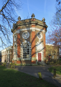 Twickenham - Orleans House Gallery, seen at a three-quarter angle - or six-eighths, as it's octagonal