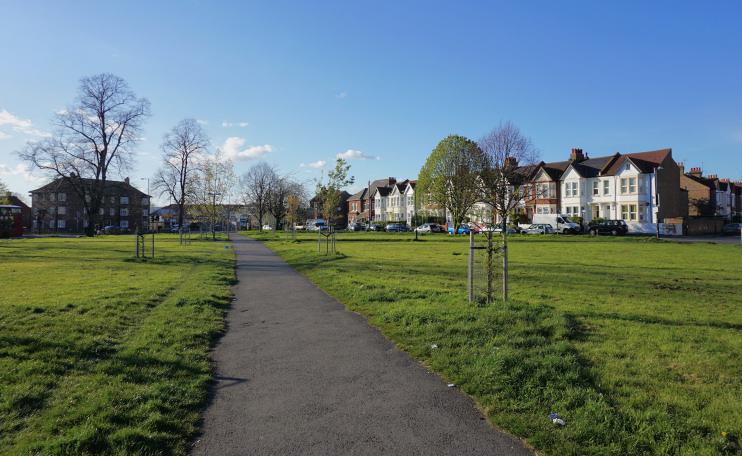 Hidden London: path on Figges Marsh by Bill Boaden
