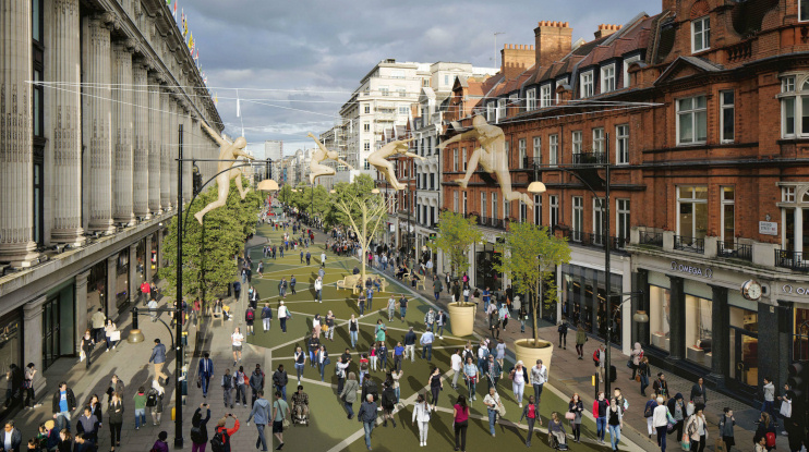 Hidden London: traffic free Oxford Street CGI